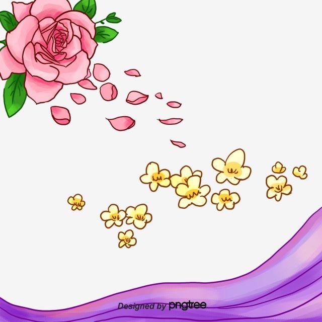 وايت روز البتلة الوردي المواد الاساسية أبيض وردي روز البتلة Png وملف Psd للتحميل مجانا Rose Petals Rose Petal
