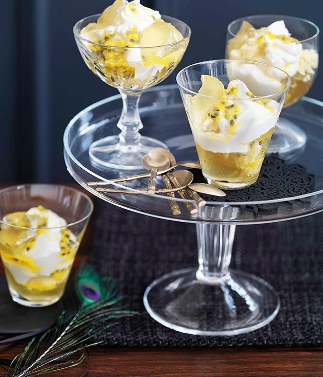 Passionfruit, lime and coconut trifle - Gourmet Traveller