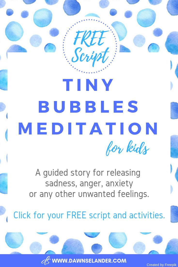 Tiny Bubbles Guided Meditation for Kids