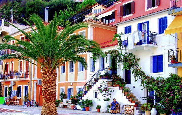 Colorful scenery from Parga