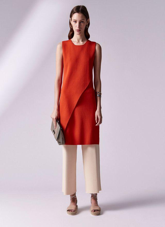 Vestido de sisas en punto cerrojillo colecci n adolfo for Adolfo dominguez outlet online