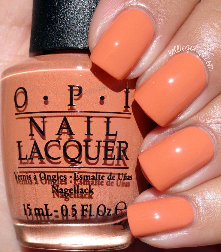 OPI Freedom of Peach // @kelliegonzoblog