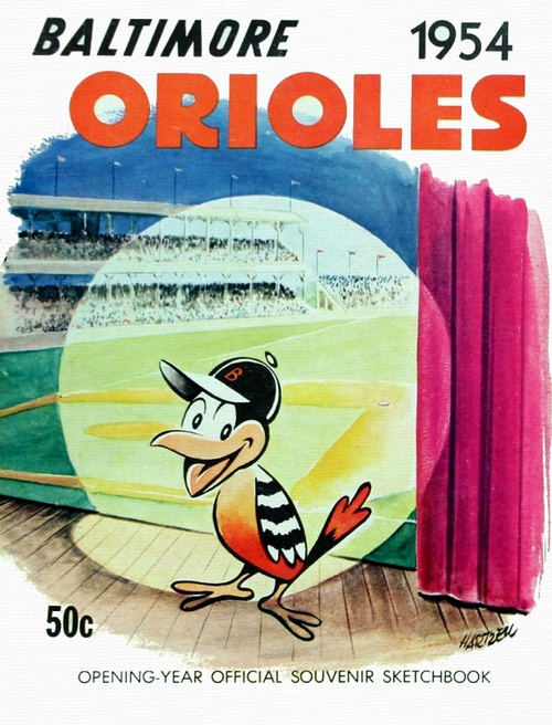 Baltimore Orioles 1954 advertising