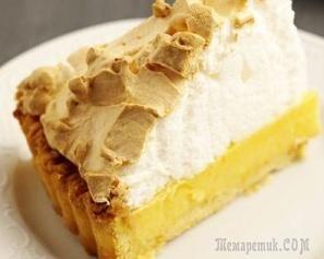 Удивительно нежный лимонный пирог с сочной кисло-сладкой начинкой