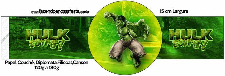 Hulk: Imprimibles para Fiestas Gratis.