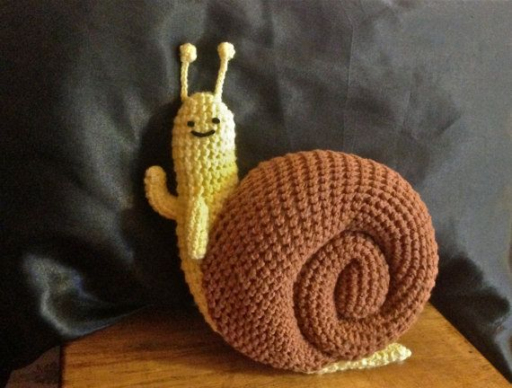 Adventure Time Plush // Arigurumi Snail // by EntireLeighHandMade, $40.00