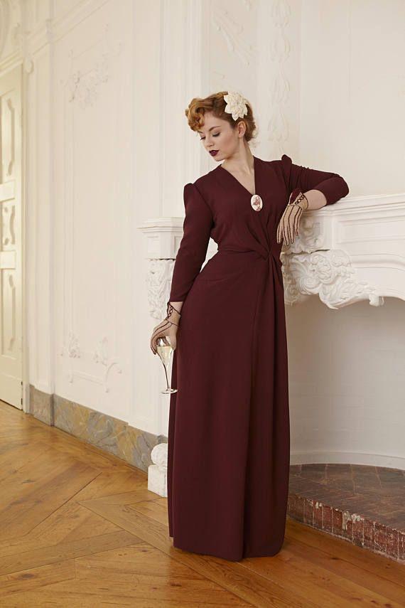 30er Jahre Abendkleid Greta Schone Kleidung Abendkleid Und Kleidung
