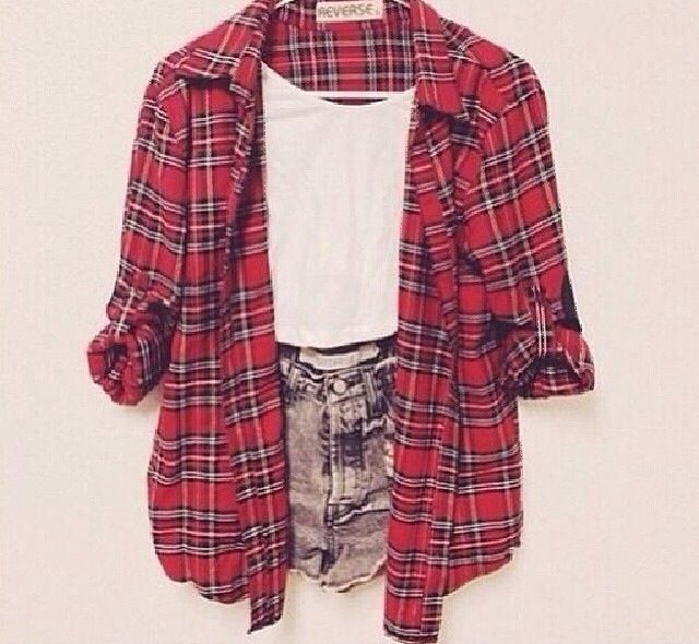 Plaid with denim
