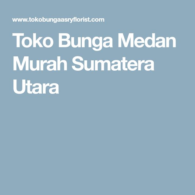 Toko Bunga Medan Murah Sumatera Utara