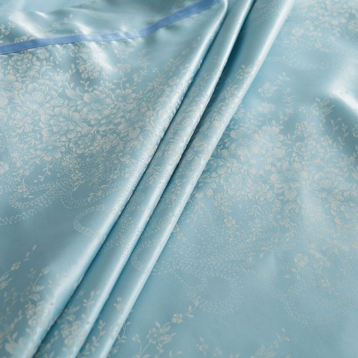 Fairy Blue Silk Cotton Blend Comfortable Luxury Duvet Set. #duvet covers #master bedroom #cheap duvet #soft duvet  #rustic duvet #vintage duvet #boho duvet #romantic duvet #modern duvet #queen duvet #king duvet