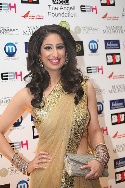 BBC Presenter Anushka Arora at the Manish Malhotra Fashion Fundraiser in London in aid of The Angeli Foundation