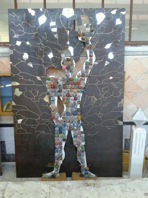 """""""Man/Food/Energy"""" (in corso d'opera), classi 2A, 1A, 1B, 1C per ExpoMilano2015 e PlayEnergyEnel. Laboratorio artistico Liceo artistico Stagi Pietrasanta."""