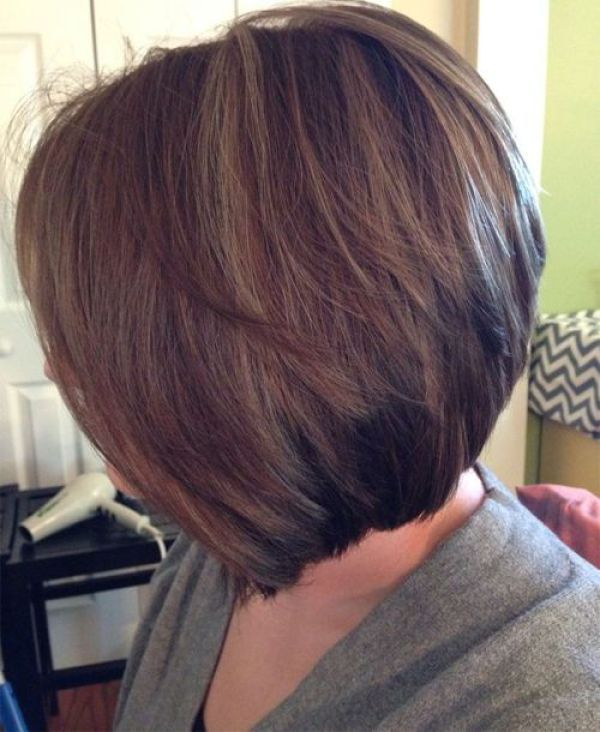 Gorgeous Stacked Inverted Bob Haircut, bob haircuts for fine hair,inverted bob…