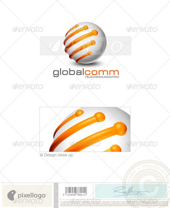Communications Logo - 3D-169 — Photoshop PSD #earth #communications • Available here → https://graphicriver.net/item/communications-logo-3d169/496559?ref=pxcr