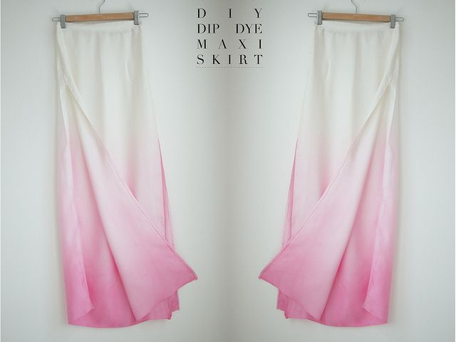 DIY dip dyed. This is a skirt but would b just as cool on curtains