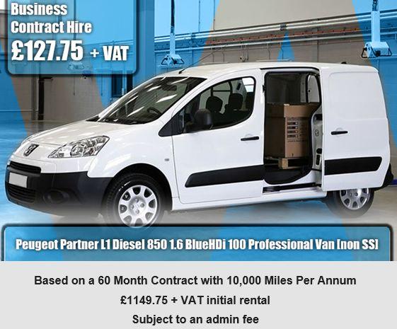 Peugeot Partner L1 Diesel 850 1.6 BlueHDi 100 Professional Van [non SS]