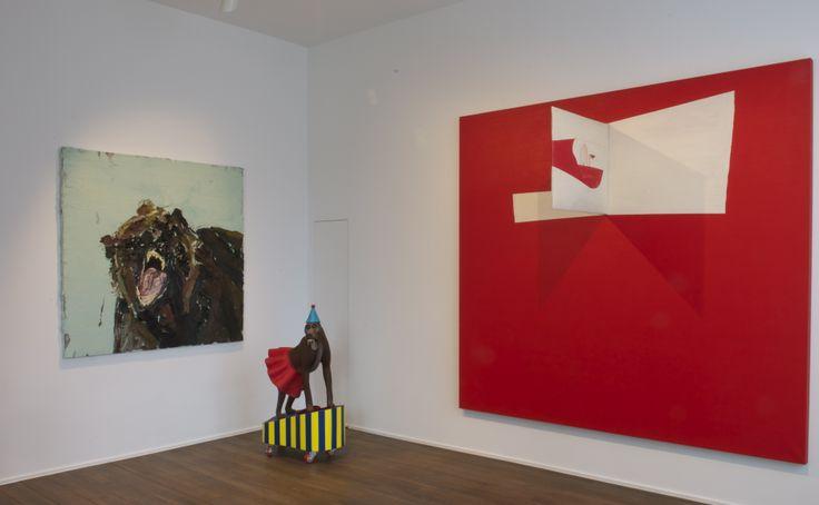 Allison Schulnik - Big bear head - 2008; Marnie Weber - Baboon - 2008; Lluis Lleo - The faces of paintings - 2004-2005