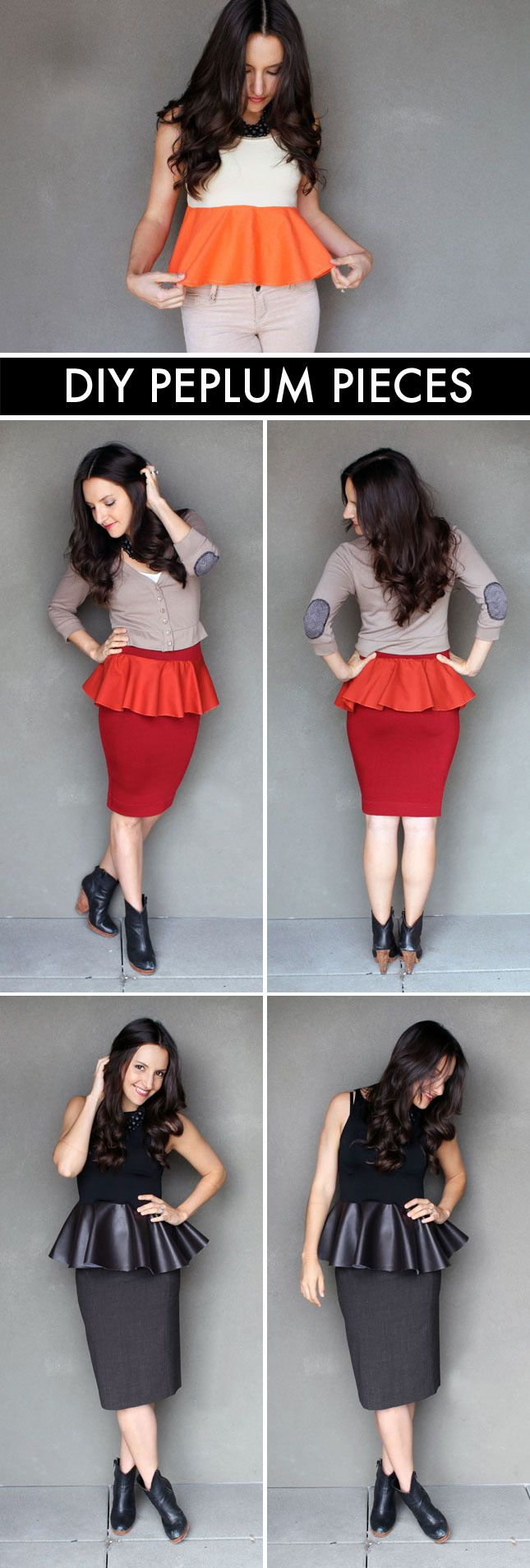 Turn Your Clothes into Chic Peplum Pieces