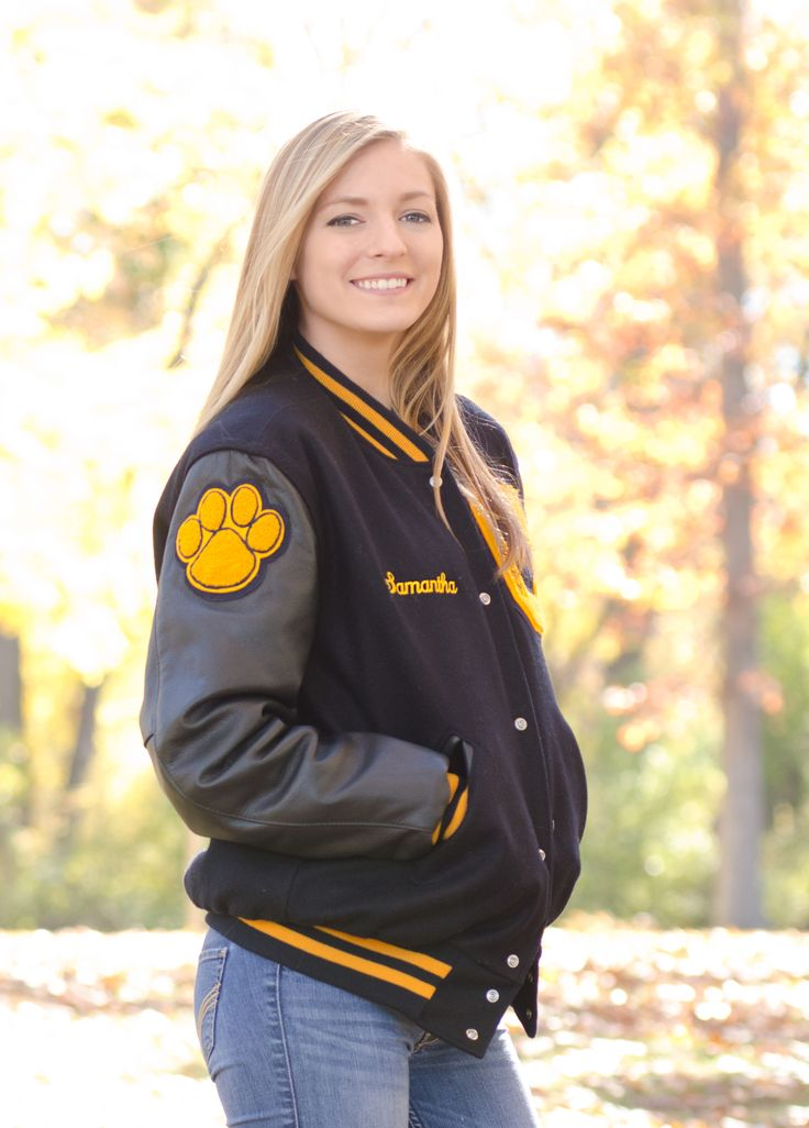 Senior Portrait / Photo / Picture Idea - Girls - Varsity Letter Jacket