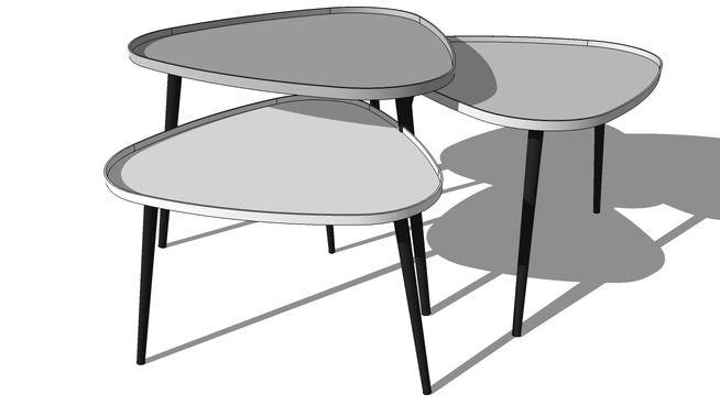 TABLES BASSES GIGOGNE GALET, Maisons du Monde, Réf. 138908, Prix :299,90 € 3D 模型的大型預覽