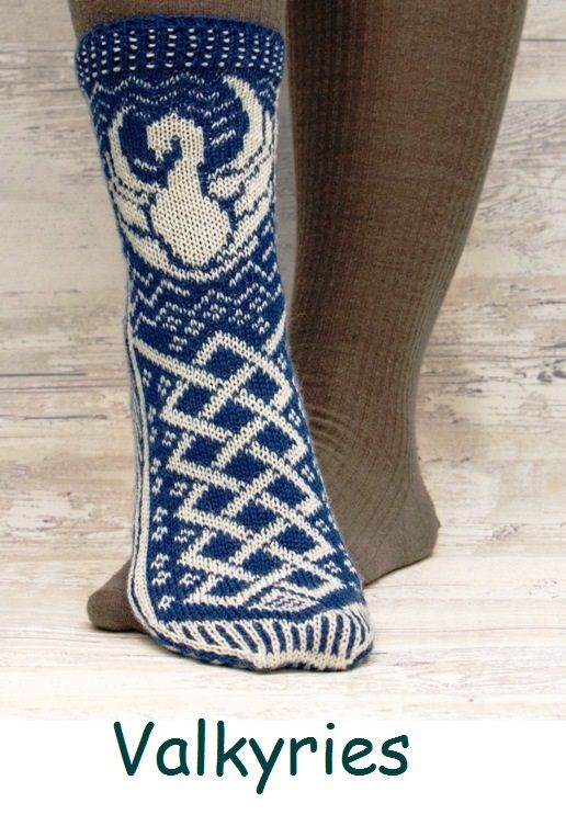 Valkyries. A sock design with inspiration from the Nordic mythology.