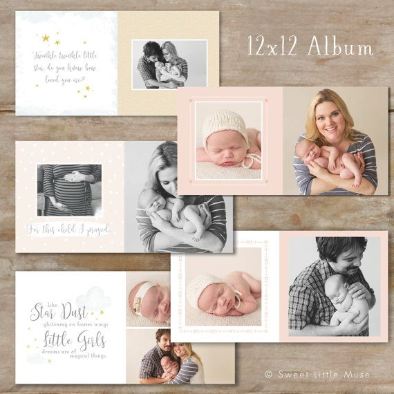 Baby Album Template for Photographers Baby door SweetLittleMuse