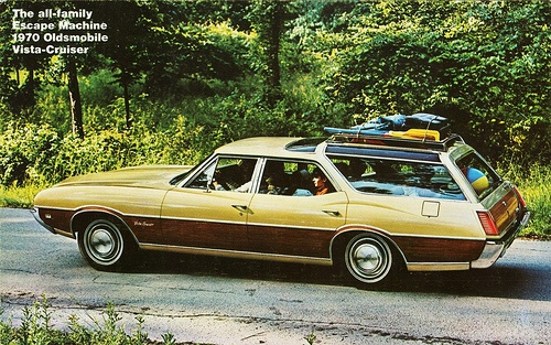 1970 Oldsmobile Vista-Cruiser. I would do drive this.