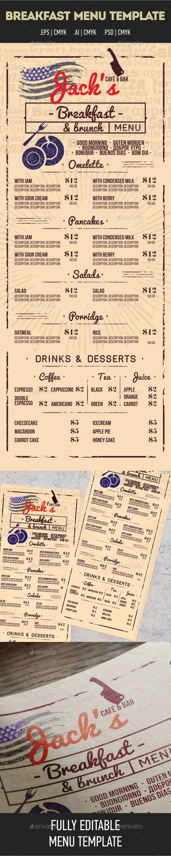 Best Menu Styles Images On   Menu Layout Food Menu