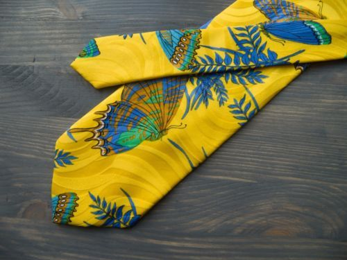 Rare Carnaval de Venise silk handmade tie in sunny yellow color. Extra-long size. Pre-owned item in a good condition. Small signs of wear may be found. Material: 100% Silk. Condition: Pre-owned tie in a good condition. $30 | eBay!