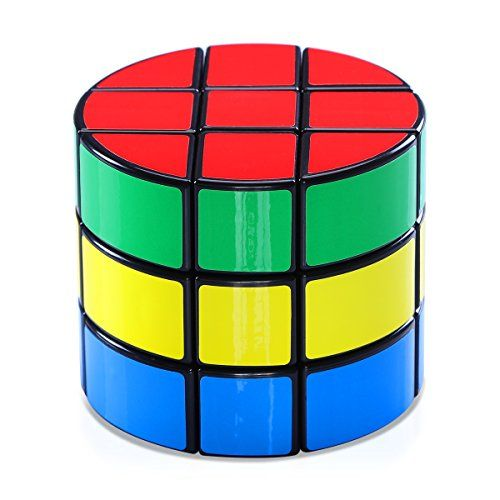 Speed Cube Jakpak Cylindrical Magic Cube Speed Puzzle Cube 3x3 Smooth Adjustable Tensioning Magic Cube Twisty Puzzle Game for Kids Brain Intellectual Development Speedcubers Puzzles Toys Black >>> Check this awesome product by going to the link at the image.Note:It is affiliate link to Amazon.