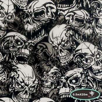 High quality skull pattern water transfer printing hydrographics film,50cm*20m,water transfer film HYA-724