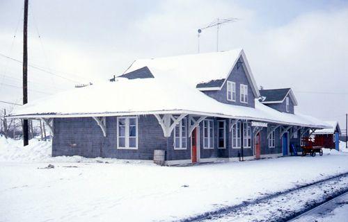 Railway stations in Foleyet Ontario Canadian National Railway Photo: Edward Egan, 1978