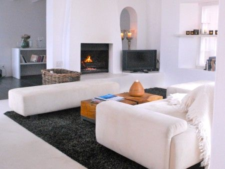 Self catering accommodation, Scarborough, Cape Town  Lounge with fireplace  http://www.capepointroute.co.za/moreinfoAccommodation.php?aID=189