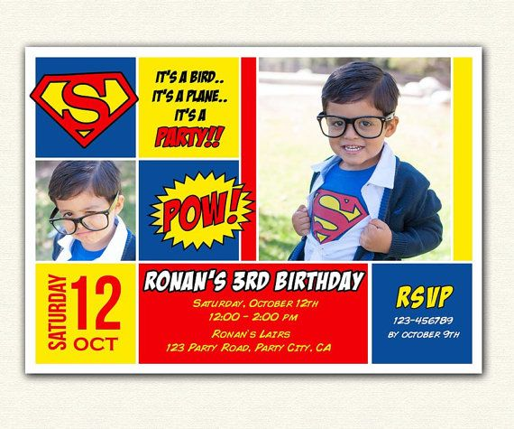 Best 25 Superman invitations ideas – Superman Birthday Party Invitations