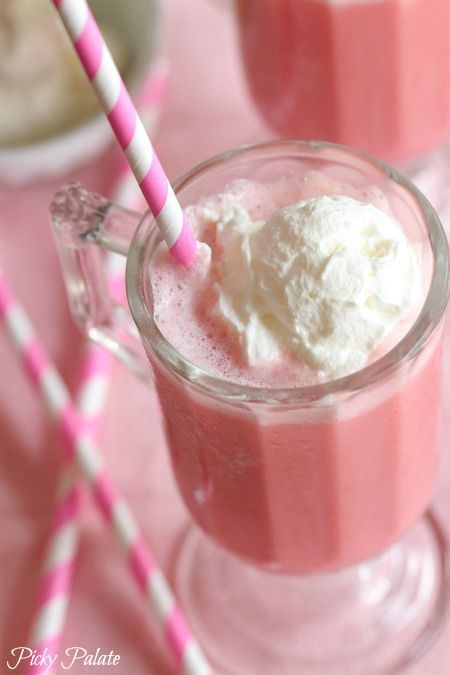 Frozen Strawberry Milk Slushy ~ so good and doesn't have Ice cream… thank goodness… allergic!