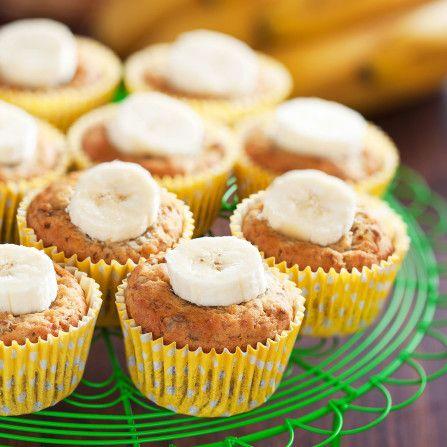 Muffins orgánicos de banano