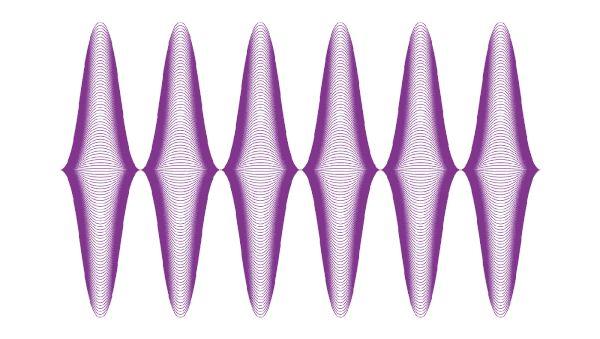 Estudio del espectro visible por el ojo humano. - Sistema gráfico realizado a partir de las relaciones entre frecuencias. - Morfología 2 Catedra Longinotti FADU UBA 2016