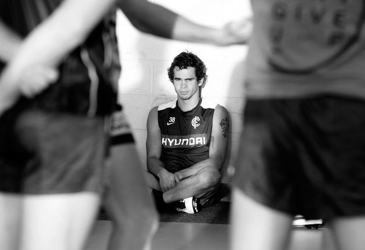 Jeff Garlett during the official 2013 Carlton Blues team photo day. (Photo: Justine Walker/AFL Media)