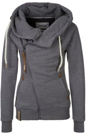 I LOVE this!!  It's a dressed up hoodie!