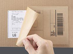 Kraft Laser Labels, Kraft Laser Label in Stock - ULINE BLOCK OUT OLD SHIPPING LABELS