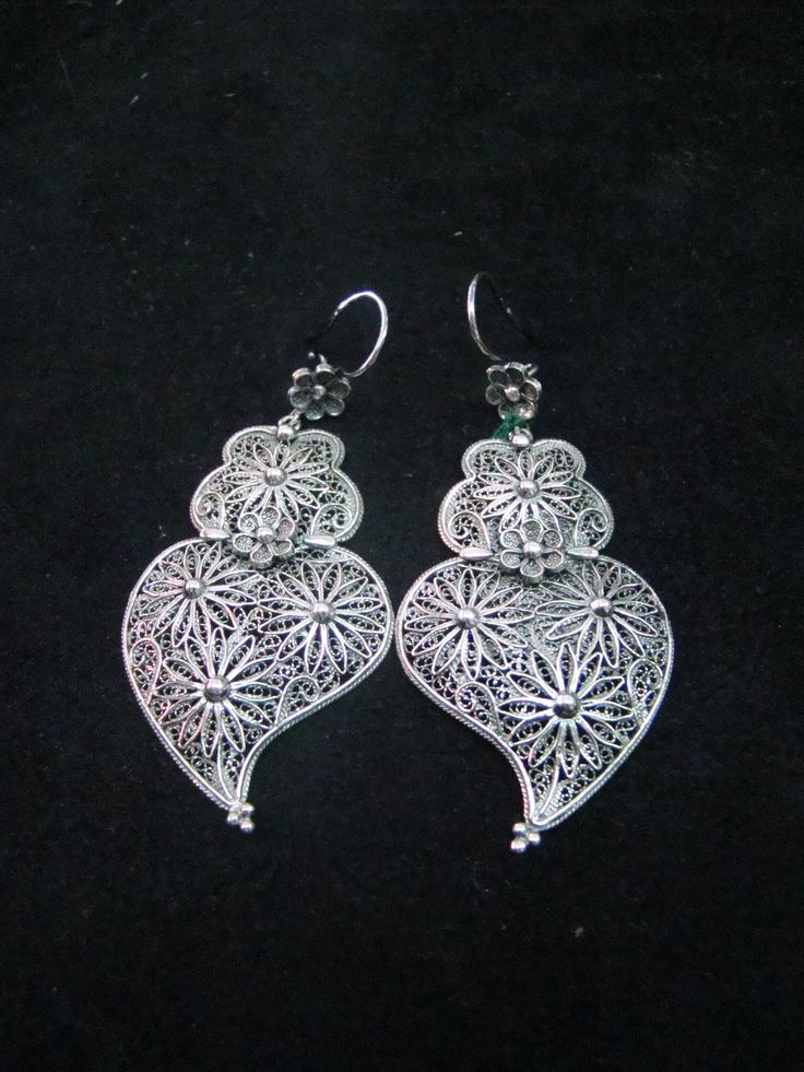 Portuguese filigrana earrings, silver