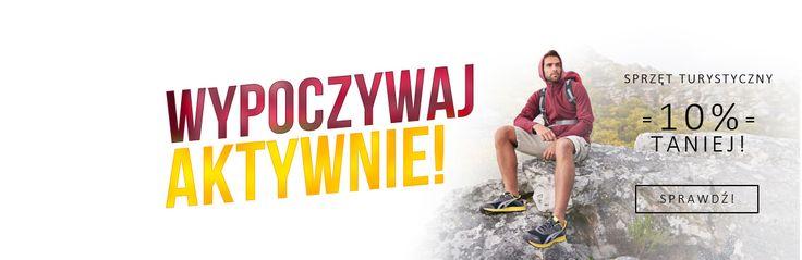 Sprzęt turystyczny 10% taniej w sklepie www.sporti.pl