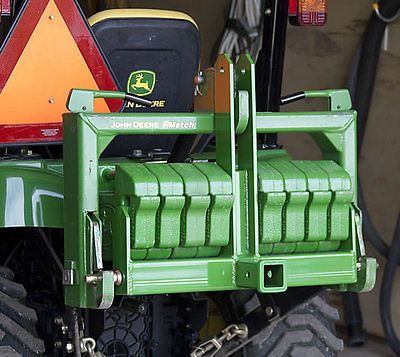 Cat-1-Sub-Compact-Tractor-Hitch-Receiver-Weight-Bracket-for-3-Pt-Hitch-Green