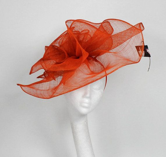 Burnt Orange Fascinator
