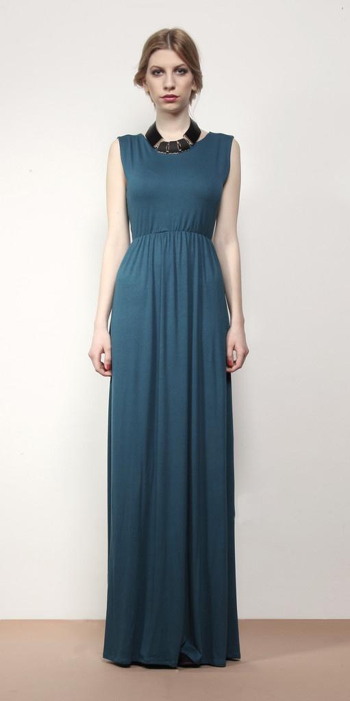 Zoe Phobic -Sea Blue Maxi Dress