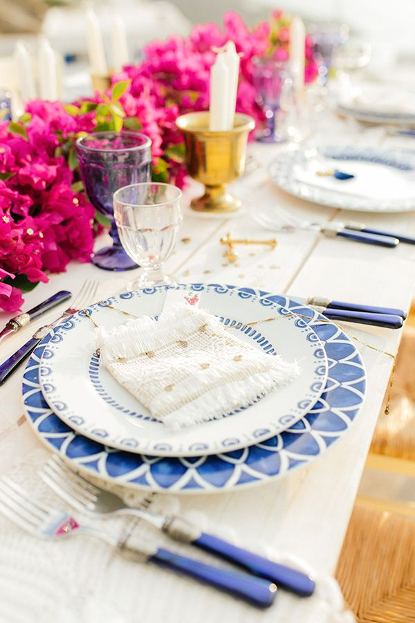 Grecian Folklore Inspired Table by the Sea | Greek party