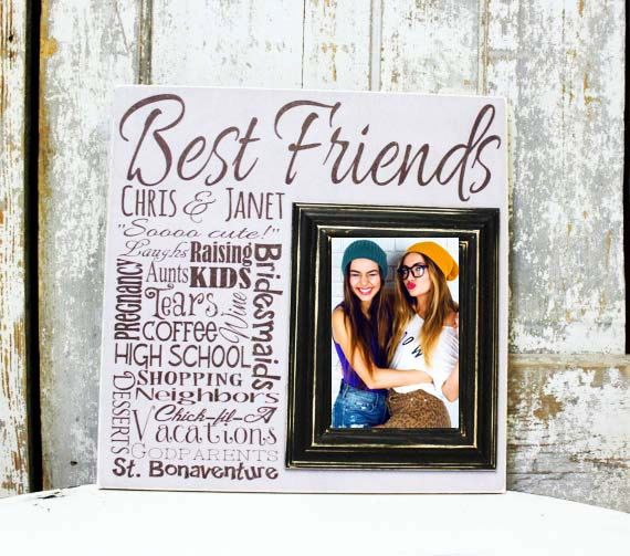 friend picture frame best friend picture frame by madikaydesigns