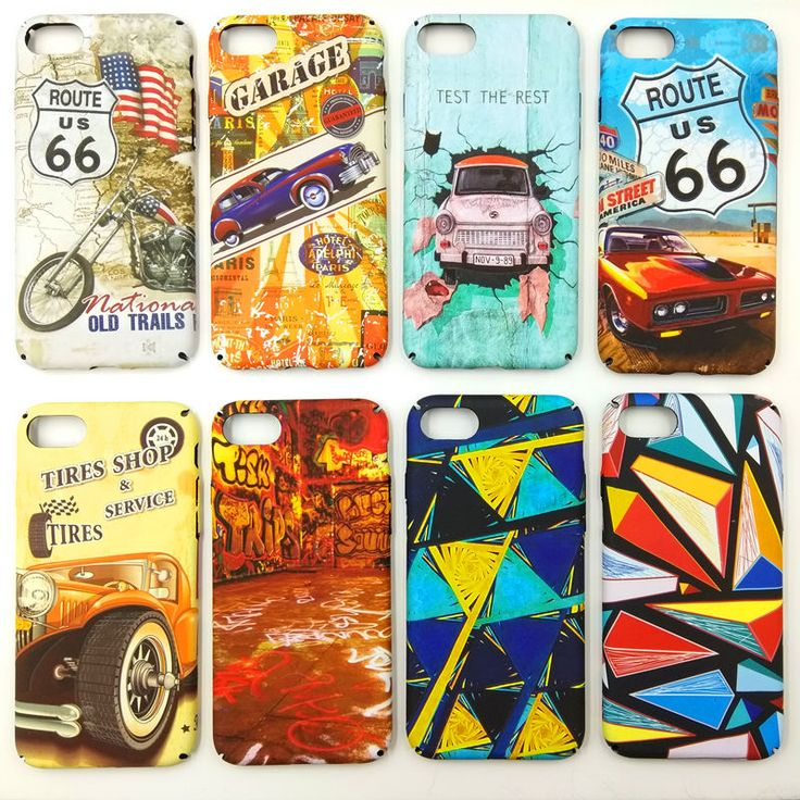 New Vintage Car Motorcycle S Painting Cover Cases for Apple iPhone 5 5s 6 6s 6plus 7 7plus Hard Frosted Matte Phone Fundas