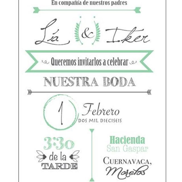 Invitación de boda Lía e Iker #wedding #weddinginvitation #tenemosboda #boda #diseñounico #trendy #diseño #tiffany