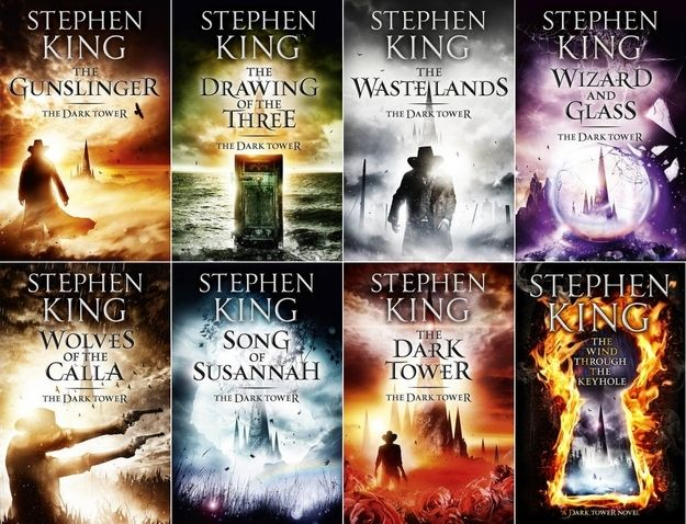 The Dark Tower | 11 Essential Stephen King Books :: I'm mostly posting this because the penis books are on the list, which makes me LOL. Also, I didn't know they were Stephen King books. ::